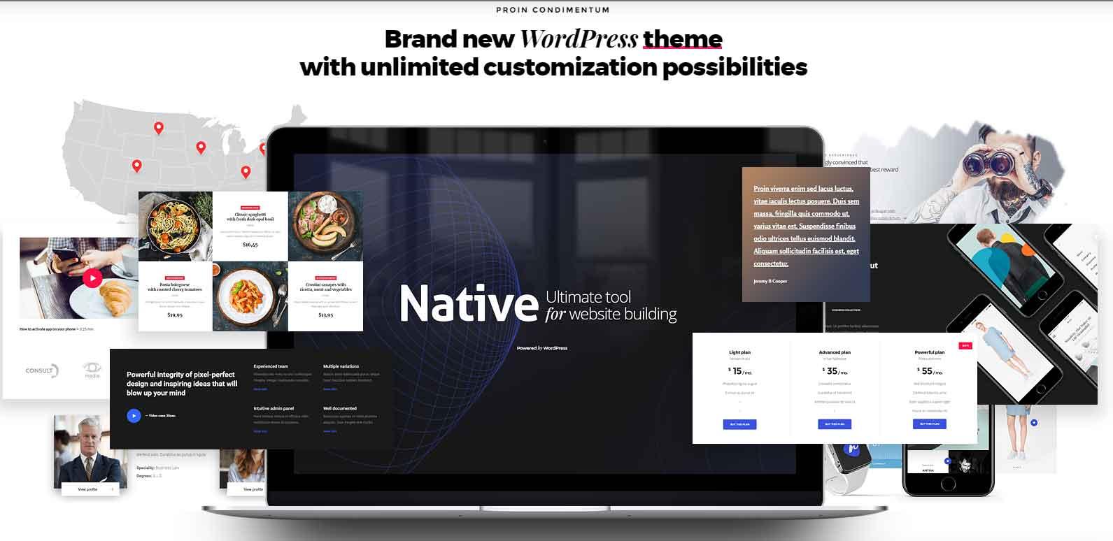 워드프레스 테마 구매 - 네이티브 ( Native )